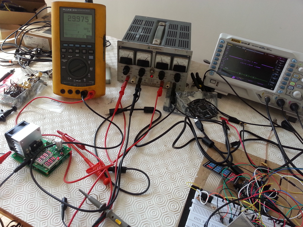 Overall testing setup for the ZPB30A1.