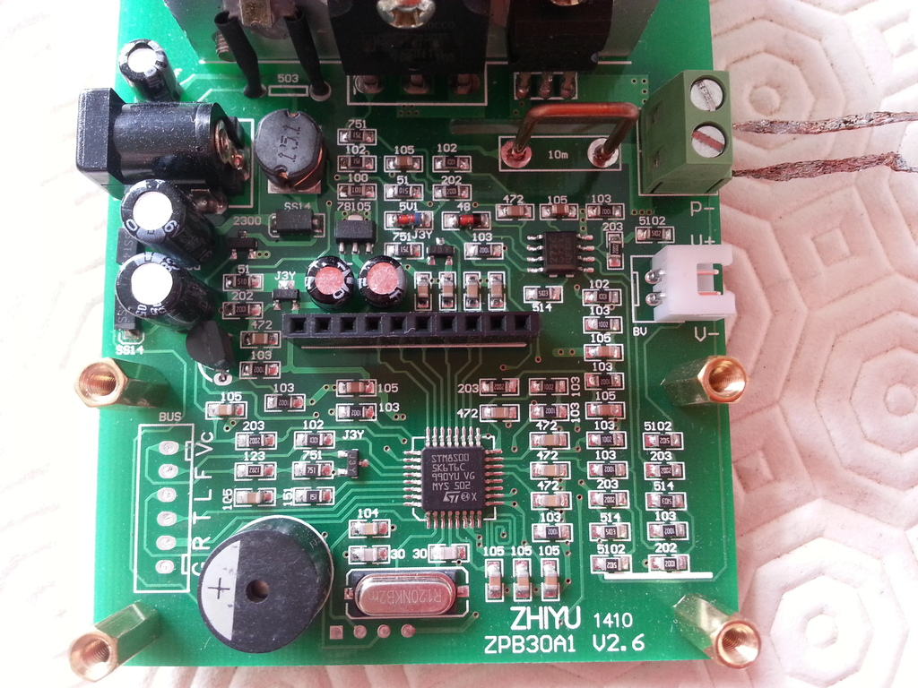 Main PCB of the ZPB30A1 electronic load