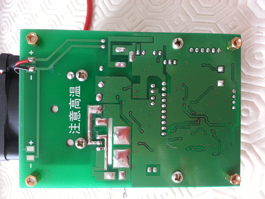 Bottom side of the PCB of the ZPB30A1 electronic load
