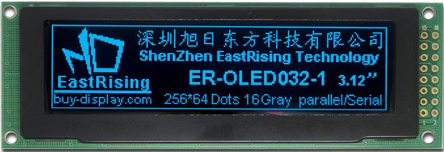 "3""2 blue OLED module used as a replacement display for the HP34970A."