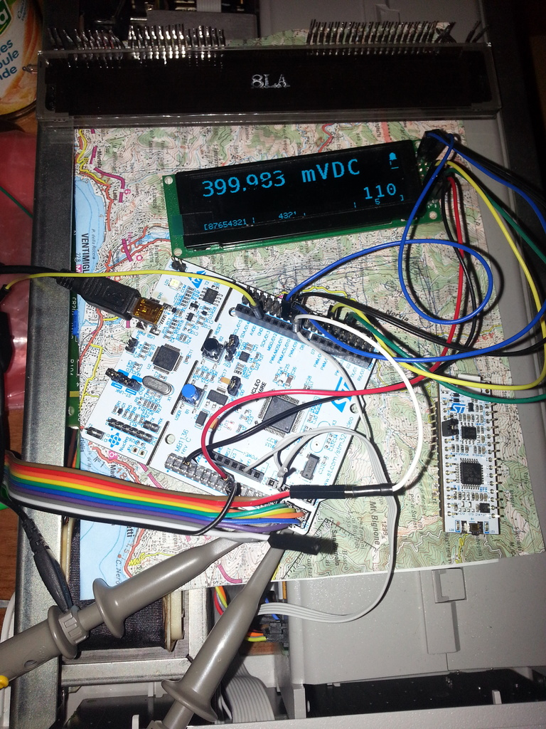 Improvment of the POC based on the Nucleo F446RE and using a blue OLED module.