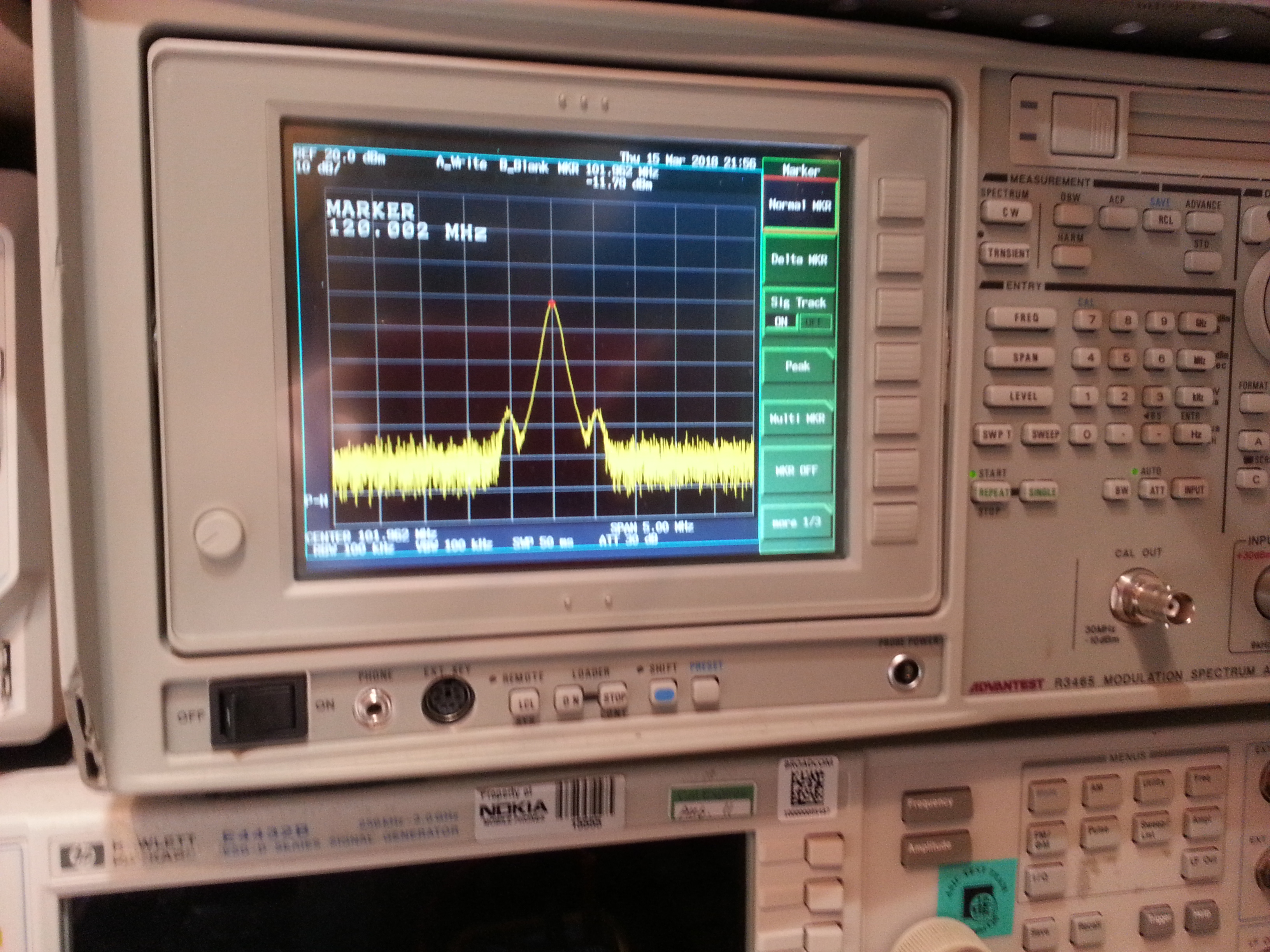 101.9MHz signal - with spurious side bands