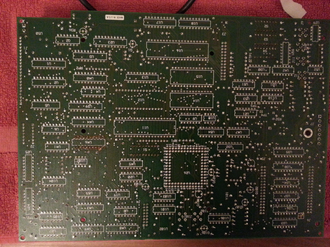 Bottom side of the A2 board.