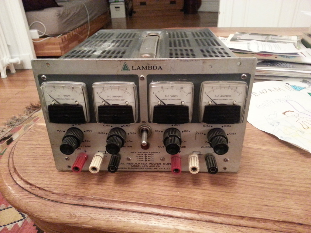 The Lambda LPD 422 FM dual regulated power supply.