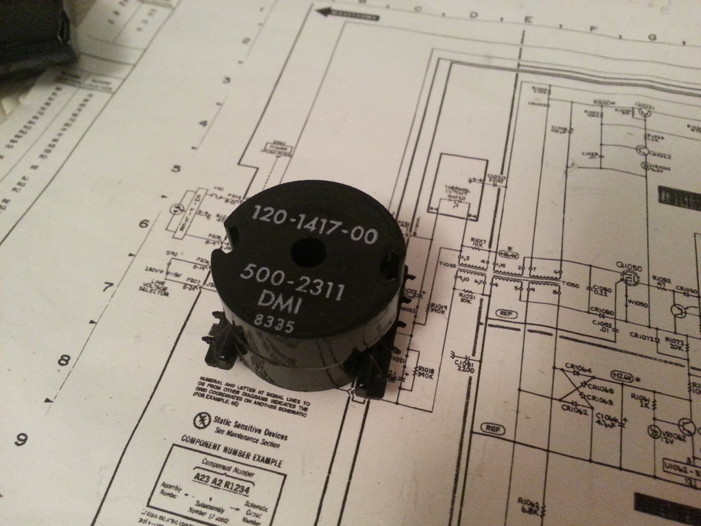 The T1050 input transformer.